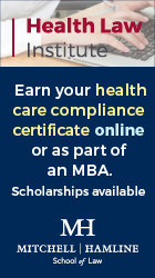 Health Law Institute | earn your health care compliance certificate online or as part of an MBA | Mitchel Hamline School of Law