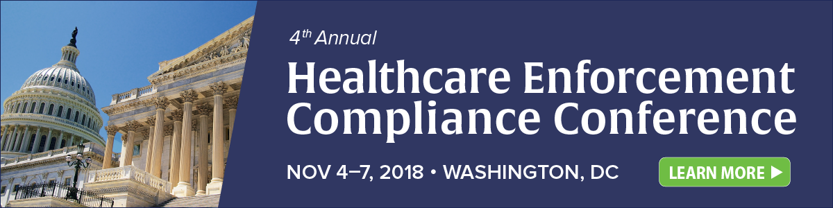 Register for the 4th Annual Healthcare Enforcement Compliance Conference | Nov 4-7 in DC | Learn more >