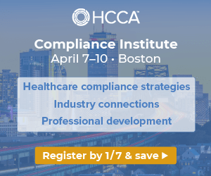 Compliance strategies, industry connections, professional development | Join us for the Compliance Institute | Register by Jan. 7 to save >